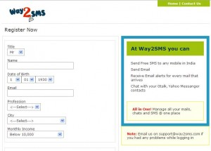 way2sms-register