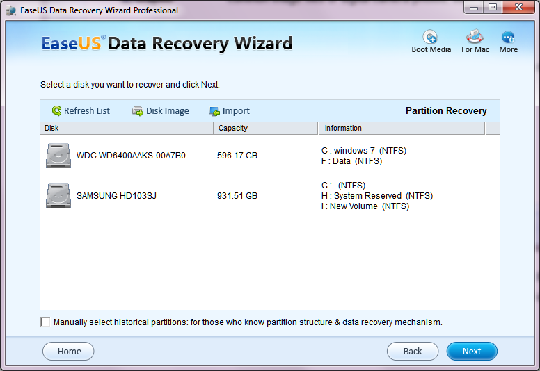 EaseUS Data Recovery Wizard2