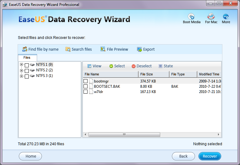 EaseUS Data Recovery Wizard7